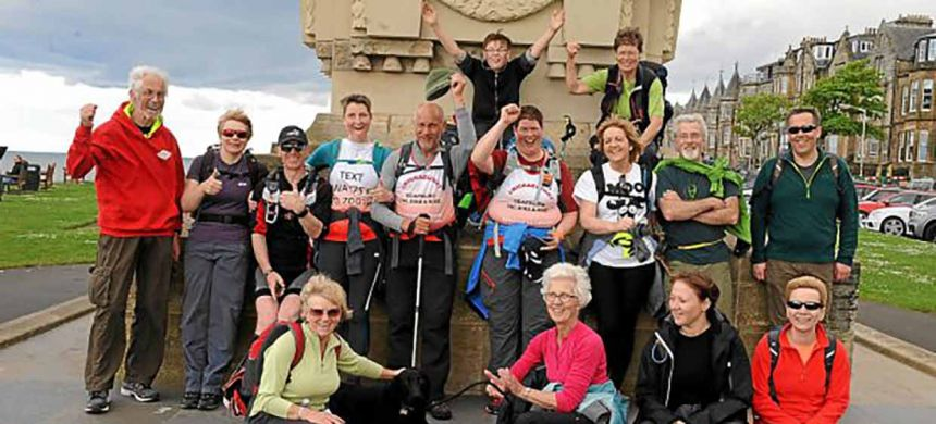 Michael completes fundraising trek across Scotland!