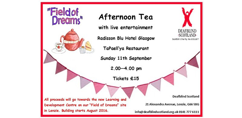 Afternoon Tea, Fundraising for Field of Dreams