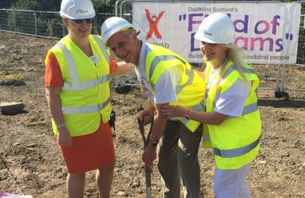 "Deafblind Scotland's ""Field of Dreams"" Ground-breaking Ceremony"