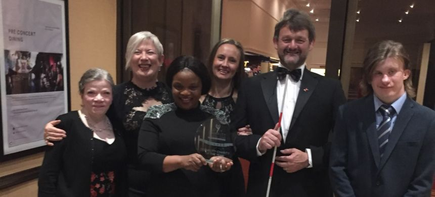 Deafblind Scotland's work recognised at Charity Champions Awards.