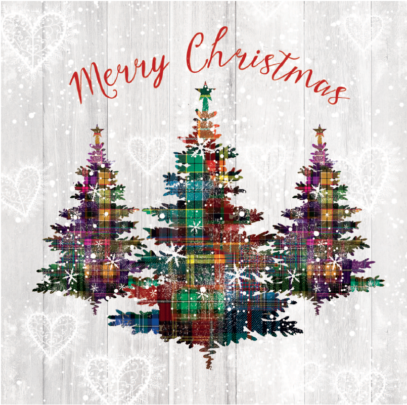 Christmas Cards Images.Christmas Cards Tartan Trees