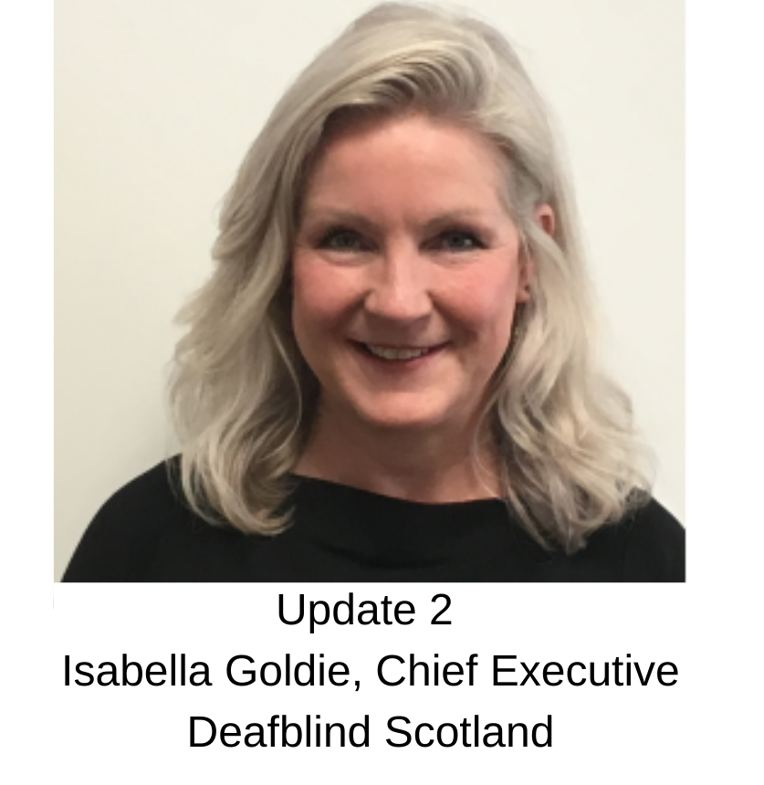 Message from Isabella Goldie, Chief Executive, Deafblind Scotland